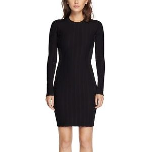 NWT Rag & Bone Ada Ribbed Stretch Black Dress